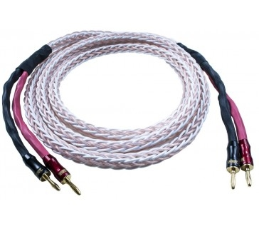 TAGA HARMONY Platinum-18 AWG OFC Braided Speaker Cable with Banana Plugs